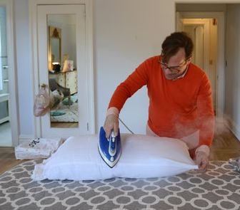 pillow ironing
