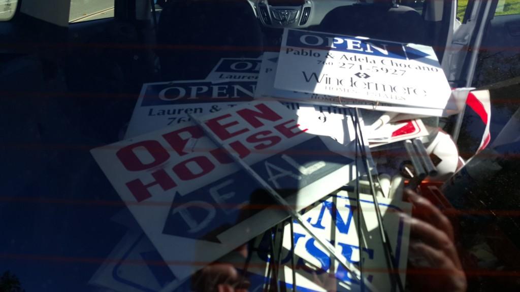 open house signs taken