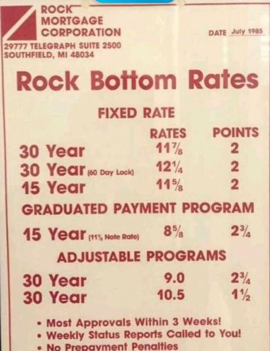 old rates